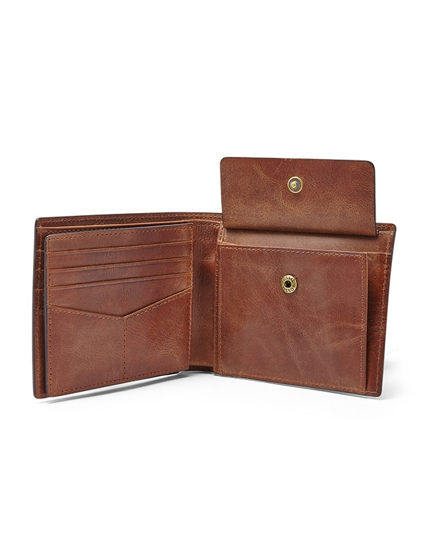 Portofel Fossil Derrick RFID Large Coin Pocket Bifold ML3687200