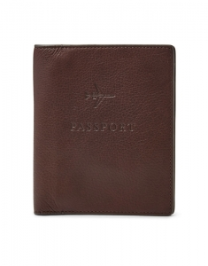 Fossil Leather RFID Passport Case MLG0358201