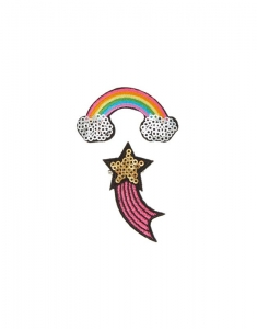 Claire's Best Friends Rainbow and Shooting Star Sequin Pins 73960