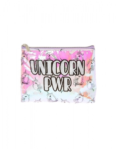 Claire's UNICORN PWR Holographic Cosmetics Bag 58876