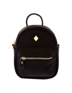 Claire's Mini Faux Leather Black Crossbody Backpack 45313