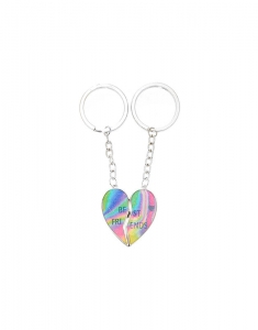 Claire's Ombre Rainbow Heart Best Friends Keyrings 17602