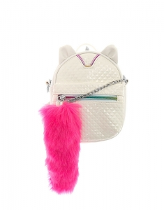 Claire's Caticorn White Crossbody Backpack 30170
