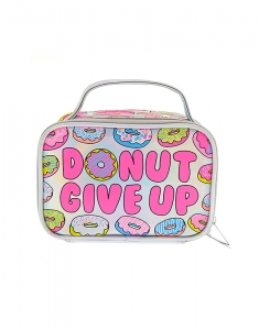 Claire's Donut Give Up Holographic Cosmetics Bag with Handle 28525