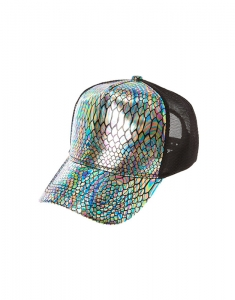 Claire's Iridescent Snake Print Trucker Hat 40925