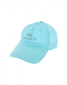 Claire's Hello Weekend Baseball Cap 4730