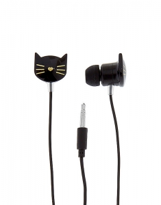 Claire's Black Cat Earbuds 37065