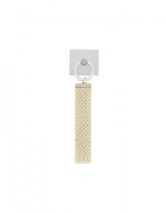 Claire's Glam Phone Stand and Wrist Strap - White 98179