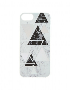 Claire's Geometric Marble Phone Case 73106