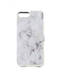 Claire's Marble Card Holder Folio Phone Case 60596