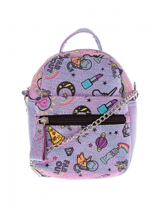 Claire's Unicorn PWR Mini Backpack Crossbody Bag - Purple 22417