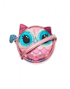 Claire's Club Owl Crossbody Bag - Pink 27938