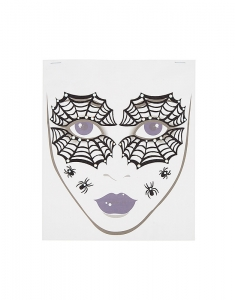 Claire's Spider Face Tattoos - Black, 8 Pack 84553