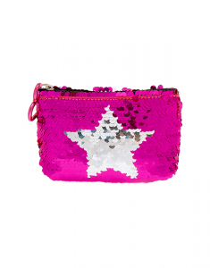 Claire's Reversible Sequin Star Zip Coin Purse 76814