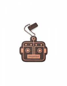 Fossil Two-Sided Robot Head Bag Tag MLG0637998
