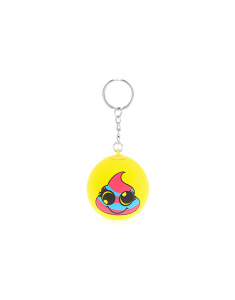 Claire's Yellow Squishy Stress Ball Keyring 81745