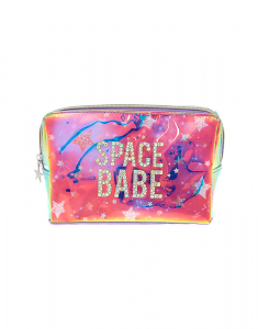 Claire's Space Babe Holographic Makeup Bag 29967