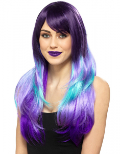 Claire's Purple & Turquoise Wig 24297
