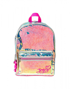Claire's Club JoJo Silver Holographic Glitter Backpack 9924