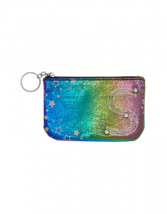 Claire's Rainbow Star Studded Initial Coin Purse - S 76098