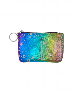 Claire's Rainbow Star Studded Initial Coin Purse - M 76062
