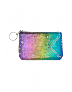 Claire's Rainbow Star Studded Initial Coin Purse - K 76075