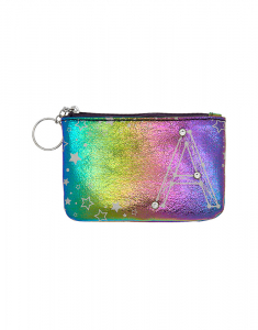 Claire's Rainbow Star Studded Initial Coin Purse - A 76049