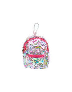 Claire's Rainbow Emoticon Mini Backpack Keychain 31104