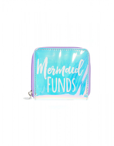 Claire's Iridescent Mermaid Funds Small Zip Wallet 10590