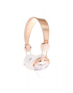 Claire's Rose Gold Tone & Marble Print Headphones 7436