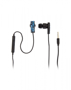 Claire's Midnight Cake Glitter Earbuds with Mic 1623