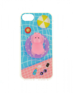 Claire's Pool Side Hippo Squishy Phone Case 30855
