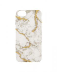 Claire's White & Gold Marble Phone Case 11524