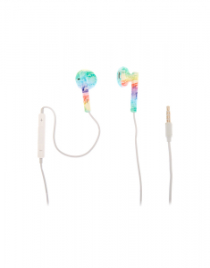 Claire's Rainbow Marble Earbuds with Mic 15245