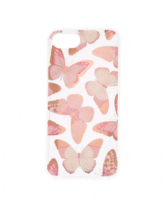 Claire's Rose Gold Butterfly Phone Case 62882