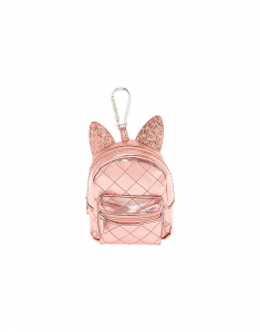 Claire's Metallic Cat Ears Mini Backpack Keychain 14658