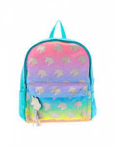 Claire's Pastel Rainbow Sequin Unicorn Backpack 56587
