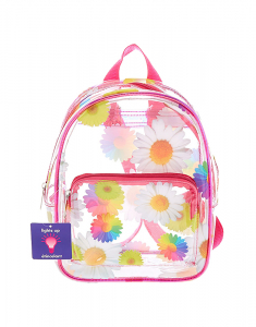Claire's Rainbow Daisy Light Up Midi Backpack 39173