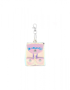 Claire's Holographic Mini Backpack Keychain 57763