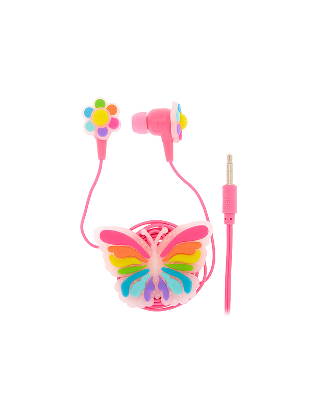 Accesoriu Tech Claire's Rainbow Butterfly Earbuds & Winder 62732