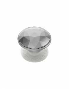Claire's PopSockets Swappable PopGrip - Disco Crystal Silver 75678