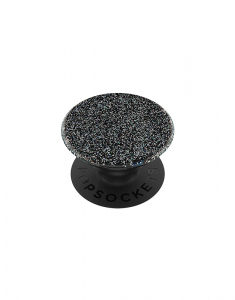 Claire's PopSockets Swappable PopGrip - Glitter Black 75681
