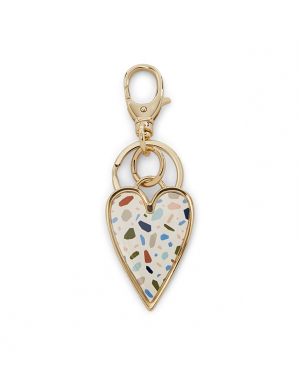 Fossil Double Heart Keychain SLG1268998