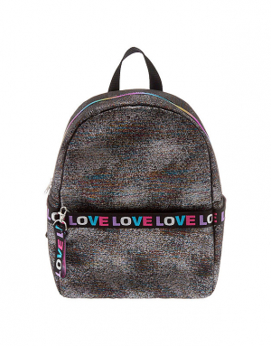 Claire's Rainbow Lurex Love Backpack 75734