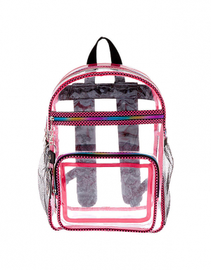 Claire's Checkered Trim Backpack 75744