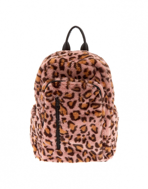 Claire's Faux Fur Leopard Backpack 75804