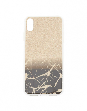 Claire's Gold Cracked Marble Phone Case 11581