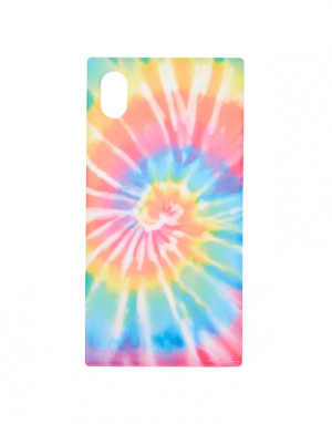 Claire's Rainbow Tie Dye Square Phone Case 85643
