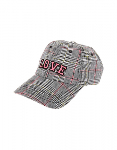 Claire's Love Plaid Baseball Cap 79984
