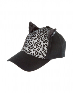 Claire's Sequin Leopard Cat Ear Baseball Cap 82005
